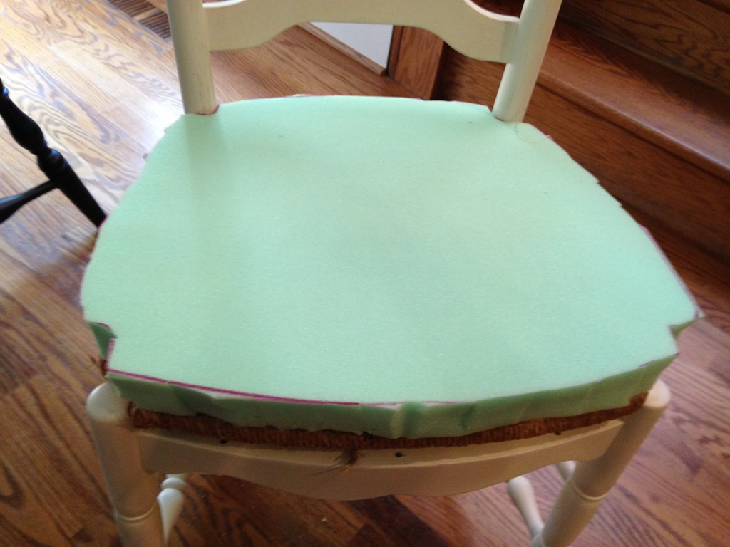 IMG_0624 & Reupholstering Dining Chair Seats - Domestic Charm